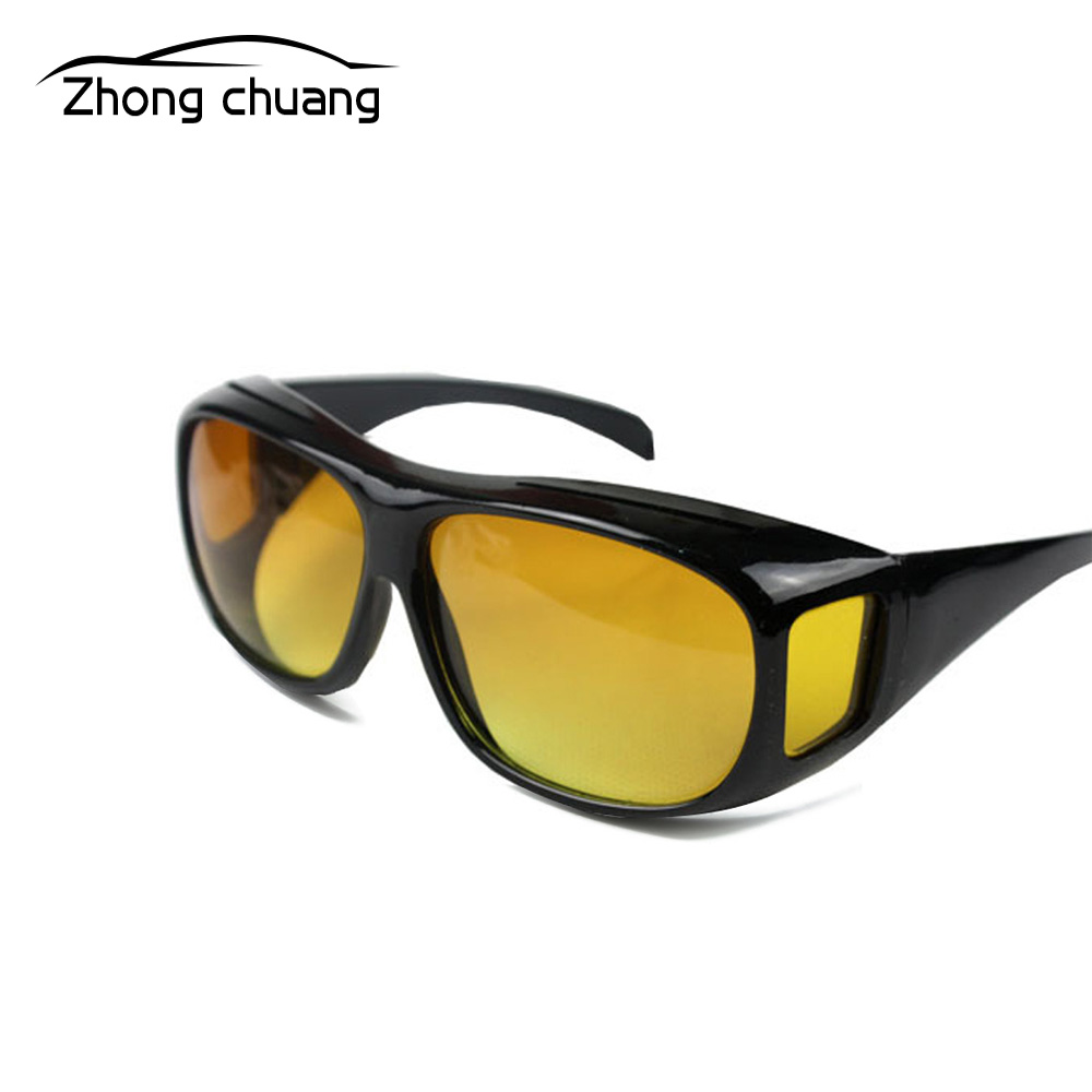 Unisex Night Vision Goggles Driver Goggles Neutral High Definition Vision Sunglasses Car Driving Glasses UV-resistant Sunglasses