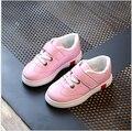 Детские девушки кожаные кроссовки для детей мальчиков кроссовки кроссовки дети мода повседневная спорт shoes малышей плоские кроссовки теннис