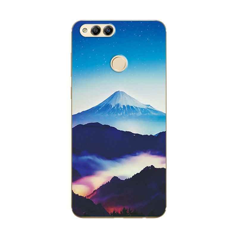Terbaru Lukisan untuk Huawei Honor 7X Berbagai Telepon Shell lembut Silicone Cover untuk Huawei Honor7X 7 X BND-L21 Fundas