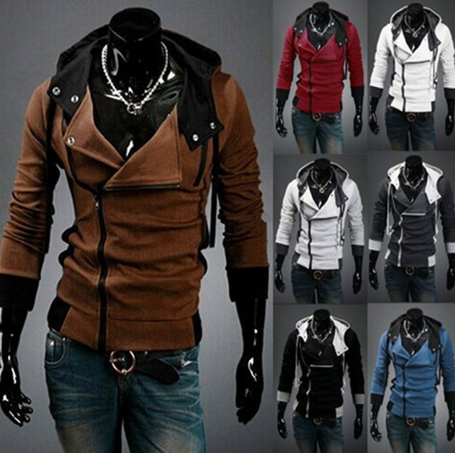 Stylish Assassins Creed Hoodie Men's Cosplay Assassin's Creed Hoodies Cool Slim Jacket Costume Coat Big Size 1