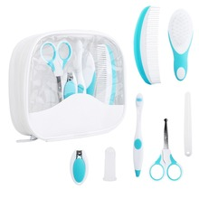 Baby Grooming Care Manicure Set Healthcare kit Nail Clipper Toothbrush Hairbrush Comb Emery Board Nail Scissor