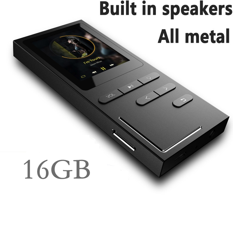 Original HiFi Metal MP3 Player Built-in Speaker APE/FLAC/WAV High Sound Quality Entry-level Lossless Music Player With FM Radio