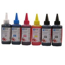 600 ml Universal 6 Color de tinta de tinte kit 100 ML cada botella para Canon PIXMA mg7720 MG7730 MG7740 MG7750 MG7760 MG7770 MG7790 impresora(China)