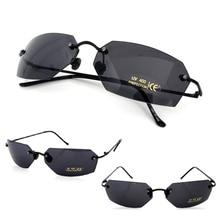 8432d5b7ac20b Filme Matrix Morpheus Óculos De Sol óculos de sol dos homens 15.9g Clássico  Oval óculos Sem Aro Ultraleve Oculos Gafas de sol 20.