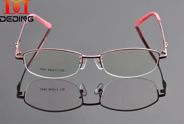 2015 Nova Mulher Óculos de sol Novo Design de Metal Lente Clara Óculos De Metal Frame Ótico DD0924 Armacao de oculos de Grau Femininos