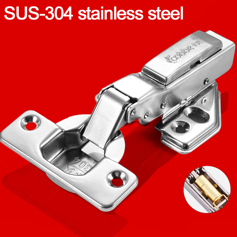 SUS 304 Stainless Steel High-quality Hinge,furniture Cabinet Door Hinges,Kitchen Furniture Bathroom Wardrobe Hardware Rust-free
