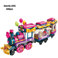 City Girls Princess Move Maersk Train Car Building Blocks Friends Heartlake Educational Toys for Gift