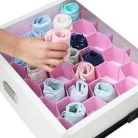 8pcs/Set Honeycomb Plastic Drawer Organizer Underwear Socks Ties Drawer Divider Storage Box Pink Blue White