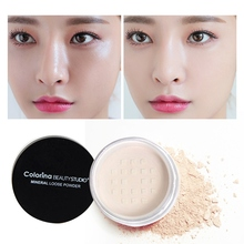3 Colors Smooth Loose Powder Makeup Transparent Finishing Powder Waterproof Cosmetic Puff With Puff 10ml empty loose powder jars with mirror powder puff black diy make up powder compact cosmetic packing container free shipping