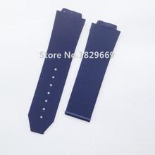 25 mm x 19 mm ( ver lug ) NEW Mens azul buceo caucho de silicona correa de la banda
