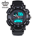 2017 New Products Gray Sport Digital Dual Display Outdoor Watch Men Fashion Teenage Present LED Luxury Man Waterproof  Clock1327