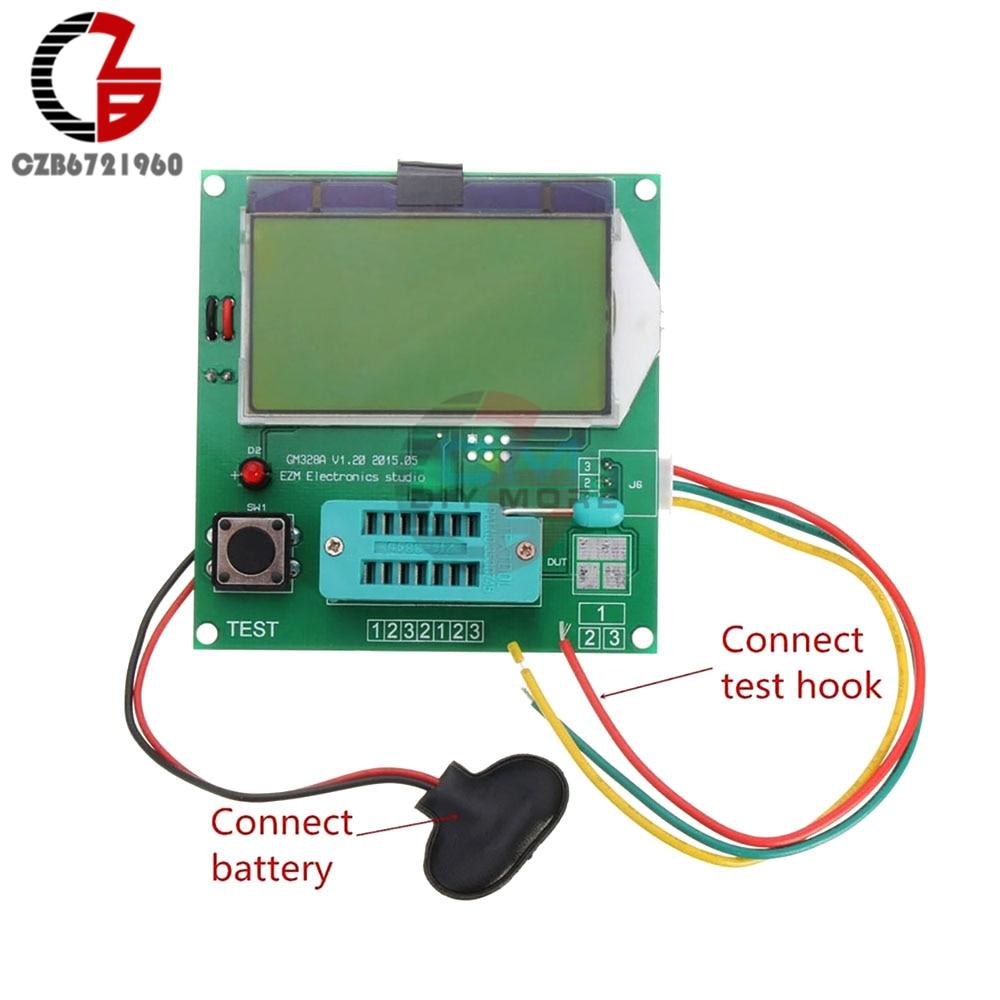 GM328A Digitale Transistor Tester Grafik Welle Signal Kapazität LCR ESR Meter MOS PNP NPN V2PO 12864 LCD Display 9 v 20mA