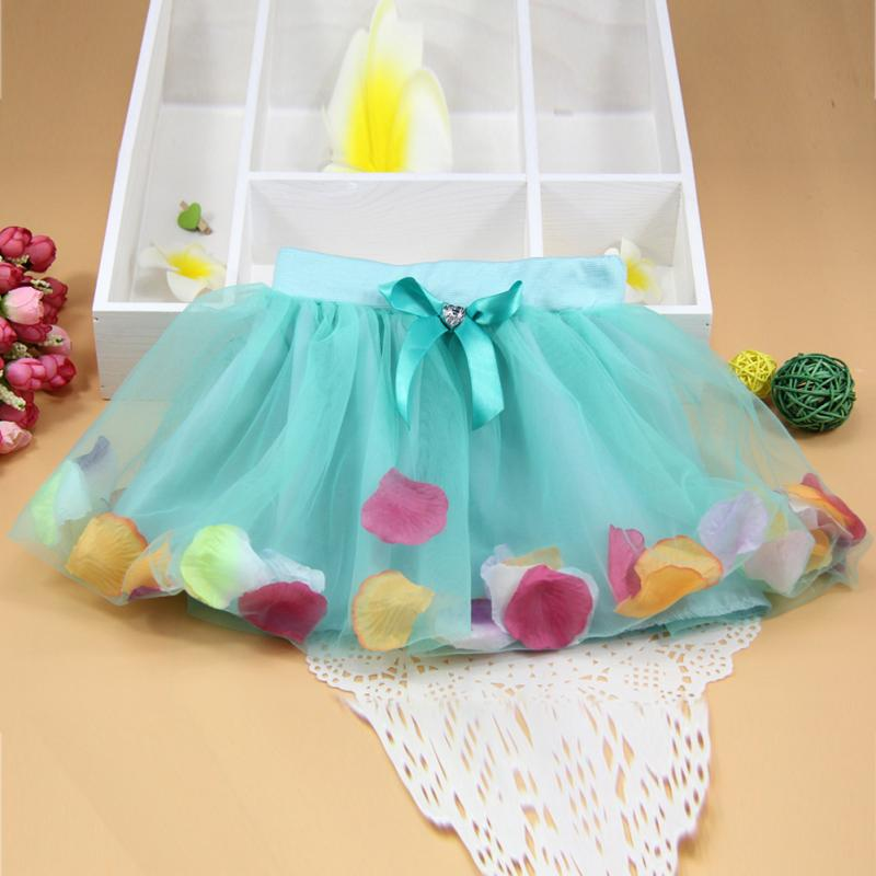 Beautiful Clothes Fashion Summer Clearance Baby Girls Colorful Petal Princess Skirt Fancy Tutus Dance