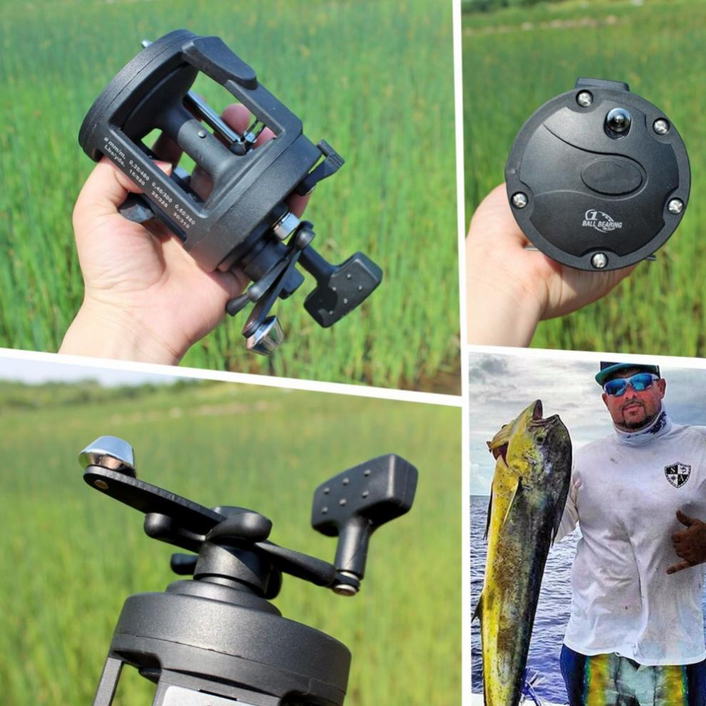 Black Drum Fishing Reel 3000 Series Gear Ratio 3 8 1 Trolling Wheel Casting Boat Sea Fishing Reels in Fishing Reels from Sports Entertainment