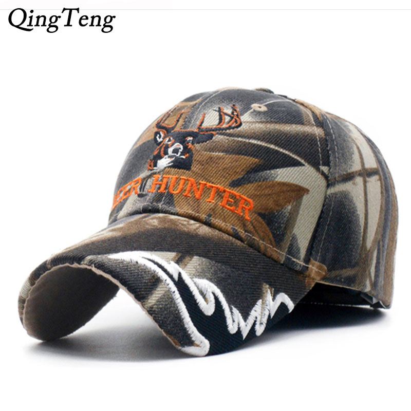 2956c5b7 US $5.84 41% OFF 2019 New Arrival Deer Cap Camo Caps Baseball Casquette  Camouflage Hats Casquette Men Hunting Hat-in Baseball Caps from Apparel ...