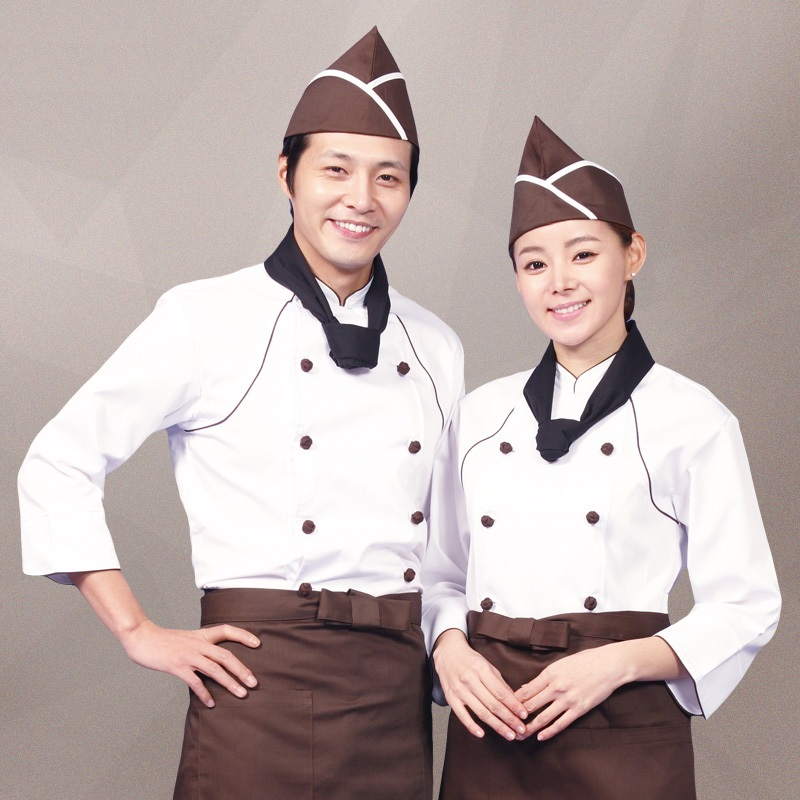 (10sets Hat&Shirt&Apron)Chef's Short-sleeved Hotel Uniforms Kitchen Chef's Western Restaurant Chef Clothes After Hutch Overalls