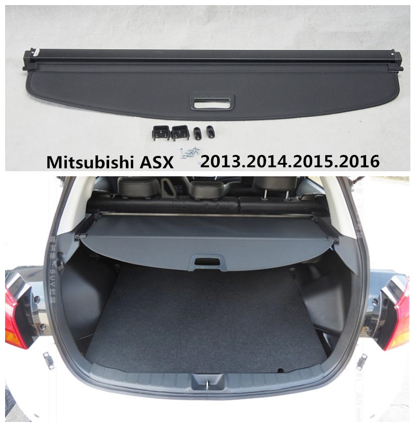 For Mitsubishi ASX 2013.2014.2015.2016 Rear Trunk Security Shield Cargo Cover High Qualit Auto Accessories Black Beige