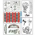 5 unids/set Comando Suicida Pegatina cos Haley Quinn y Joker cosplay apoyos pequeña feo Etiqueta Engomada del tatuaje tattoo regalos accesorios 30X20 CM