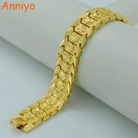 20 5CM Gold Bracelet For Women Men 22K Real Gold Plated Brass Dubai Bangles Africa Hand