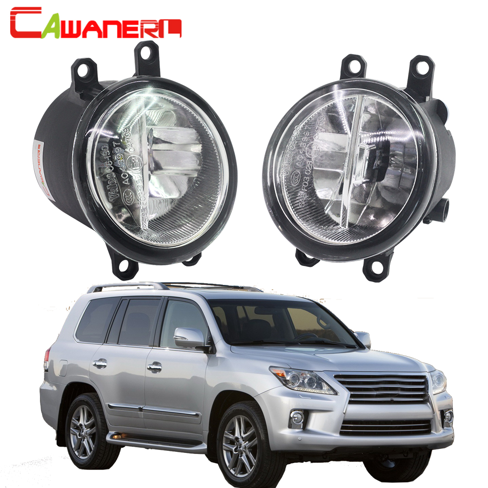 Cawanerl For <font><b>Lexus</b></font> <font><b>LX570</b></font> 2008-2011 Car Styling H11 LED <font><b>Fog</b></font> <font><b>Light</b></font> 4000LM White 6000K Daytime Running Lamp DRL 12V 2 Pieces image