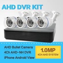 HD 4CH CCTV Система 720 P Наблюдения В Реальном Времени 4Ch AHD AHD DVR KIT 4 Шт. Открытый Безопасности Камеры Системы XMeye P2P Облако
