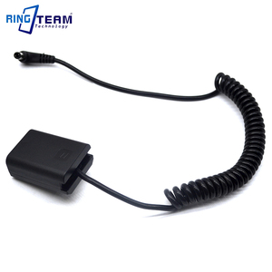 Image 3 - DC 5521 Spiral Cable NP FW50 AC PW20 PW20 Battery DC Coupler for SONY A7000 A6500 A5100 A6300 A6000 A7 2 A7R A7S RX10 Camera