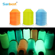 Sanbest Glow In Dark Luminous Machine Embroidery / Sewing DIY Thread Polyester 3000M 150D/2, 15 Colors Optional, Eco-Friendly