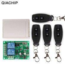 QACHIP 433 MHz ไร้สายรีโมทคอนโทรลสวิตช์ AC 250V 110V 220V รีเลย์ตัวรับสัญญาณรีเลย์ + 4PCS RF 433 MHz