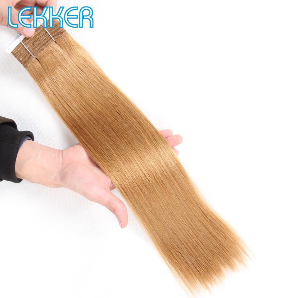 Lekker Brazilian Hair Weave Bundles HH Yaki Straight Hair Extensions Honey Blonde #613 #27 #99J Burg Remy Human Hair Bundles