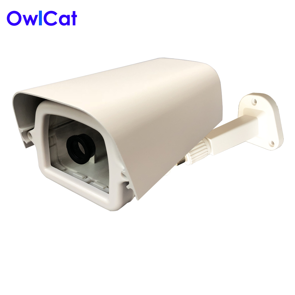OwlCat Indoor Bullet CCTV Camera Guard Wall Mount Plastic Housing Shield with bracket for Video Surveillance Security Cameras mini bullet cvbs ccd camera 700tvl with headset mount for mobile surveillance security video 5v