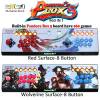 Pandora S Box 5 960 Games Usb Arcade Joystick 2 Players Button With Led Light Red