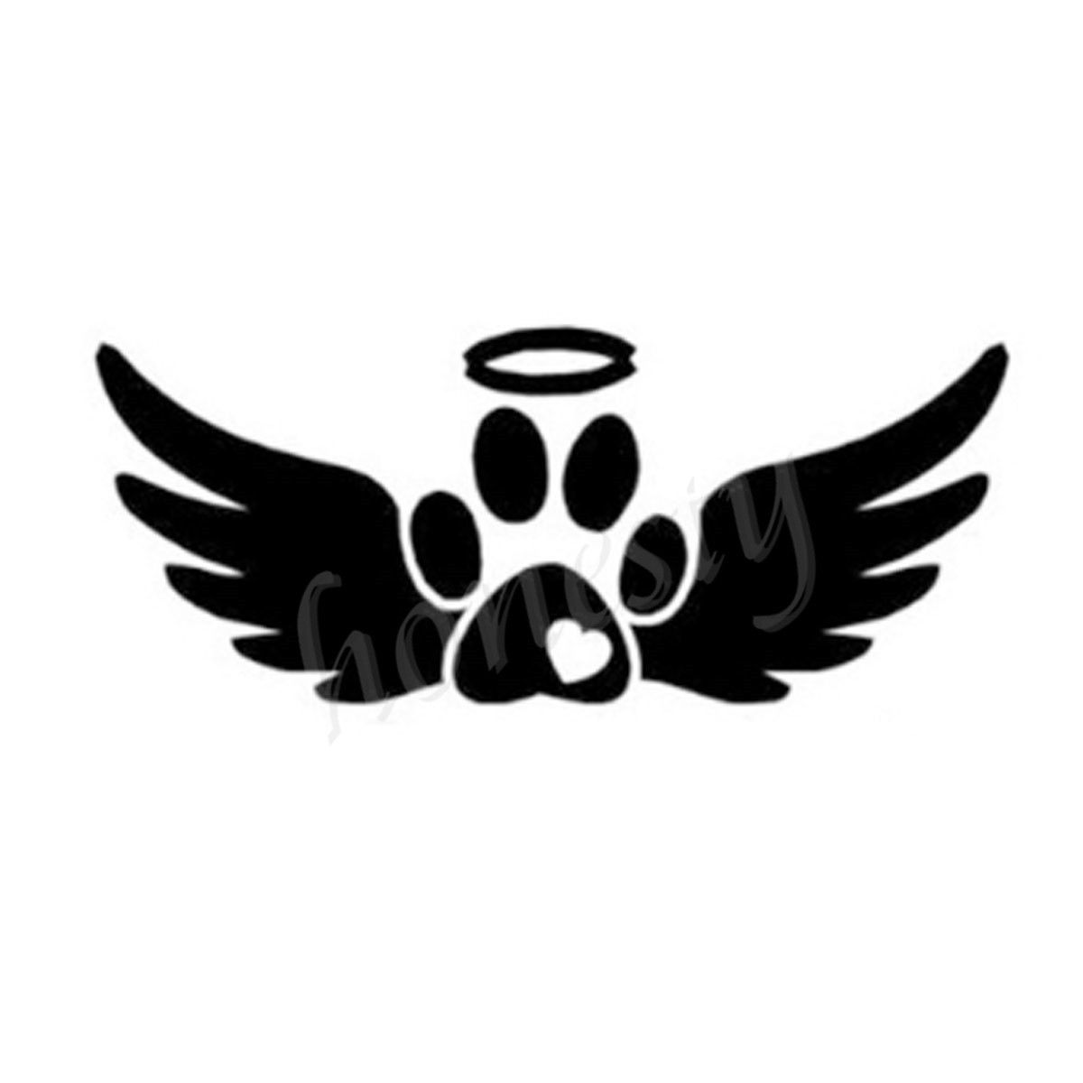 Angel wings animal paw print wall home glass window door car sticker angel wings animal paw print wall home glass window door car sticker laptop auto truck black vinyl decal sticker decor gift in car stickers from automobiles biocorpaavc Choice Image