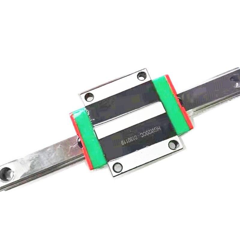 2pc HGR15 linéaire guide largeur 15mm-1450mm + 2pc HGW15CC mouvement glissière rail pour CNC axe xyz