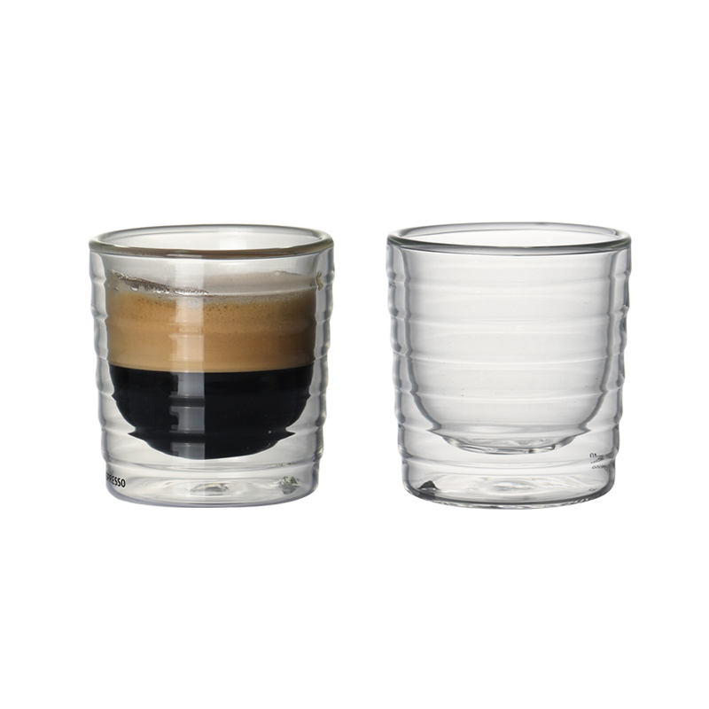 <font><b>Set</b></font> of 2 150ml double wall layed insulated heat resistant <font><b>coffee</b></font> <font><b>cups</b></font> <font><b>set</b></font> for espresso latte drinks <font><b>cup</b></font> of <font><b>coffee</b></font> 5.1oz image