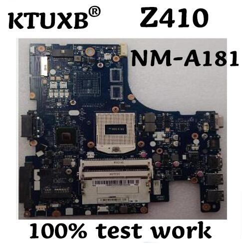 KTUXB AILZA NM A181 motherboard for Lenovo Z410 notebook motherboard HM87 PGA947 DDR3 100 test work
