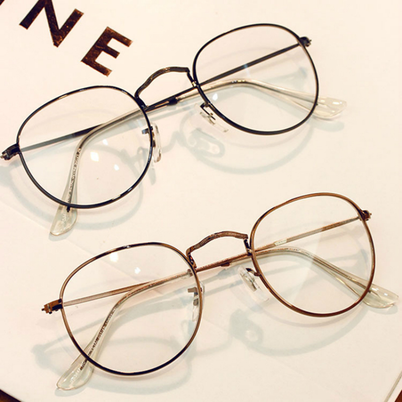 c37f0d33eae 2018 New Hot Personality Vintage Metal Trend Round eyewear Frame For Women s  glasses transparent Female Reading