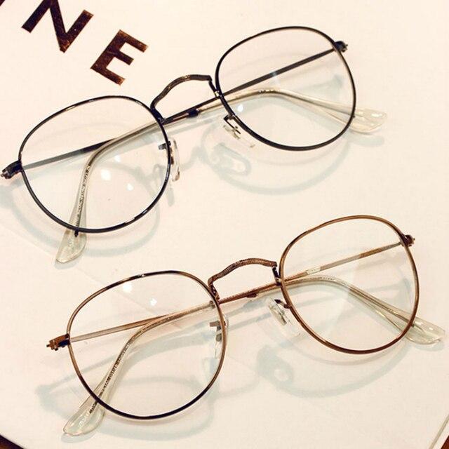 c40065301cca31 2018 Nieuwe Hot Persoonlijkheid Vintage Metalen Trend Ronde eyewear Frame  Voor vrouwen bril transparante Vrouwelijke Lezen