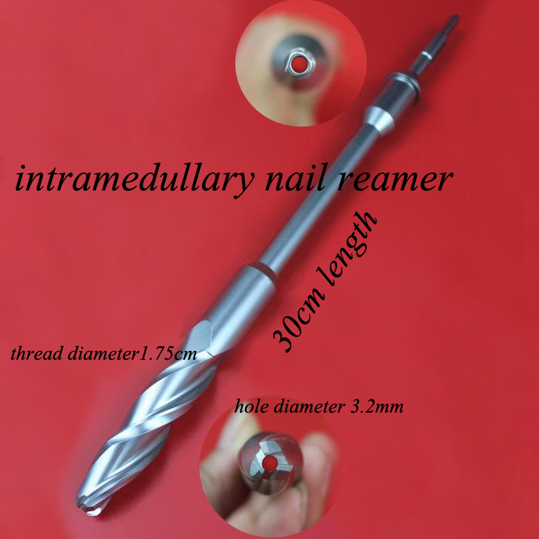 Orthopedics instrument foximal femur reamer PFNA Intramedullary nail reamer hollow drill 3.2 expending hole for bone care medical small animal orthopedics instrument kit 59 tool set veterinary 0 5 18kg pet 1 5 2 0 2 4 2 7 screw bone plate install ao