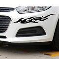 2 unids Capó Del Motor de La Motocicleta Universal Car Sticker Styling Decal Decoración Mural Vinilo Cubre Accesorios de Automóviles Fuego Llama