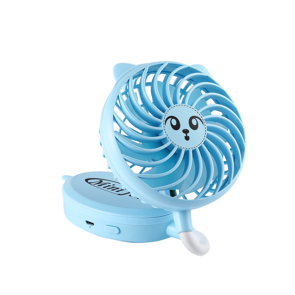 Stylish Portable Mini Size Cooling Fan Low Power Consumption Rechargeable Battery Travel Accessory for Gift