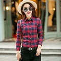 Women Shirt 2017 Spring Fashion Plaid Style Brand Women's Blouses Long Sleeve Shirt Plus Size Blouses Cotton Blusas Office Tops