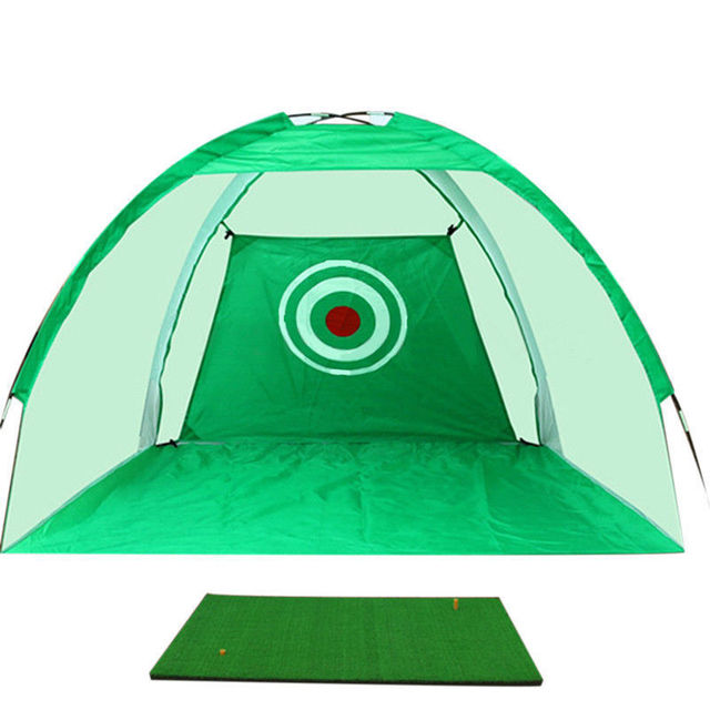 XC LOHAS Golf Training Aids Indoor/Outdoor Foldable Golf Hitting Cage Garden Grassland Golf Practice Net 200x120x135cm