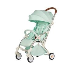 Купить с кэшбэком 6kg Lightweight Baby Stroller Foldable Portable Stroller Kinderwagen Multifunctional Adjustable Portable Four-wheel Trolley Cart