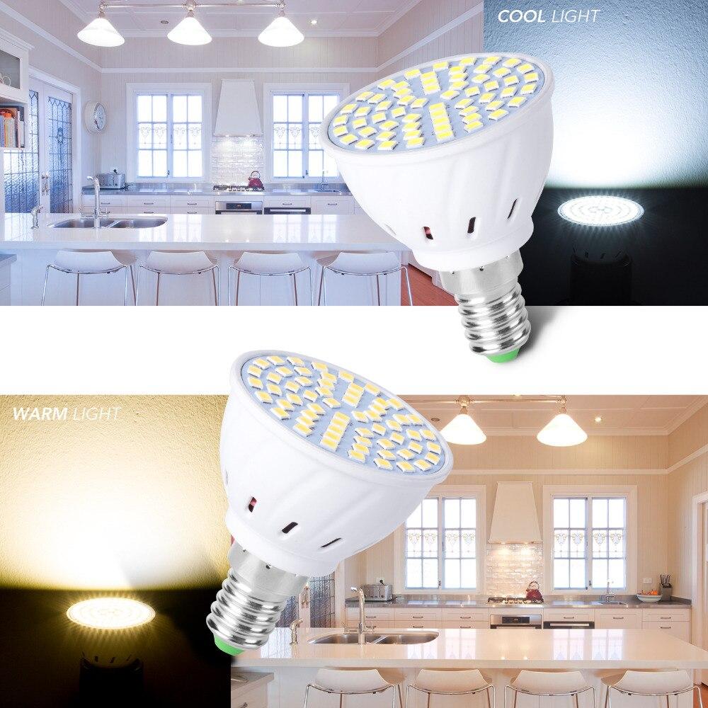 Купить с кэшбэком E27 LED Lamp GU10 Spotlight Bulb E14 Lampada 48 60 80leds lampara GU 10 Bombillas Led 220V MR16 gu5.3 Spot Light B22 3W 5W 7W