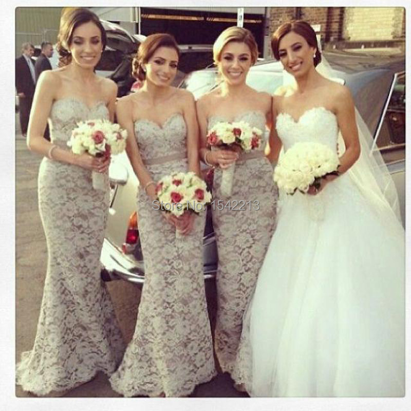Online Buy Wholesale gray lace bridesmaid dress from China gray ...