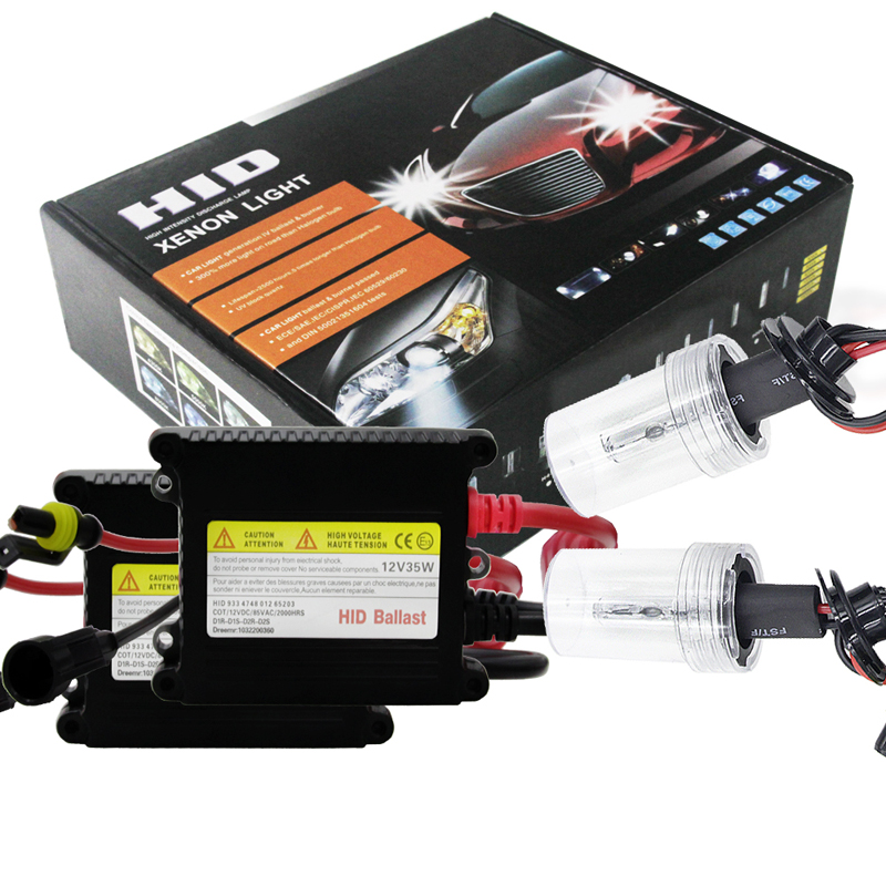 Xenon Light H7 Hid Bulbs, Auto Lighting System Hid Xenon Bulbs H7 With Slim Ballasts Dc 12V 35W 8000K