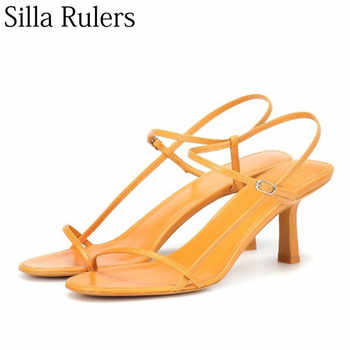 Silla Rulers new summer sexy ladies sheepskin sandals one strap open toe high heels summer shoes for woman runway shoes women - SALE ITEM - Category 🛒 Shoes
