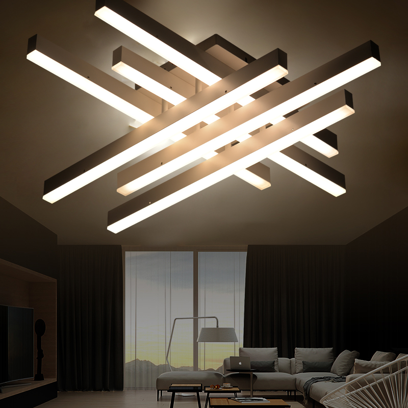HTB1w2yNfyAKL1JjSZFoq6ygCFXaf Modern LED Ceiling Lights with Remote Control Nordic Home Decor White Black Hanging Ceiling Lamps For Dining Room Corridor Loft