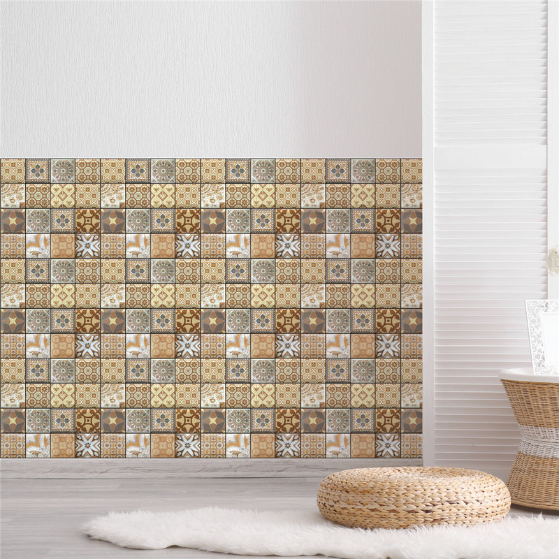 US $10.61 41% OFF|3D Brick Stone Wallpaper Self Adhesive PVC Waterproof  Bathroom Kitchen Wall Paper Backsplash Tiles Wall Stickers-in Wall Stickers  ...