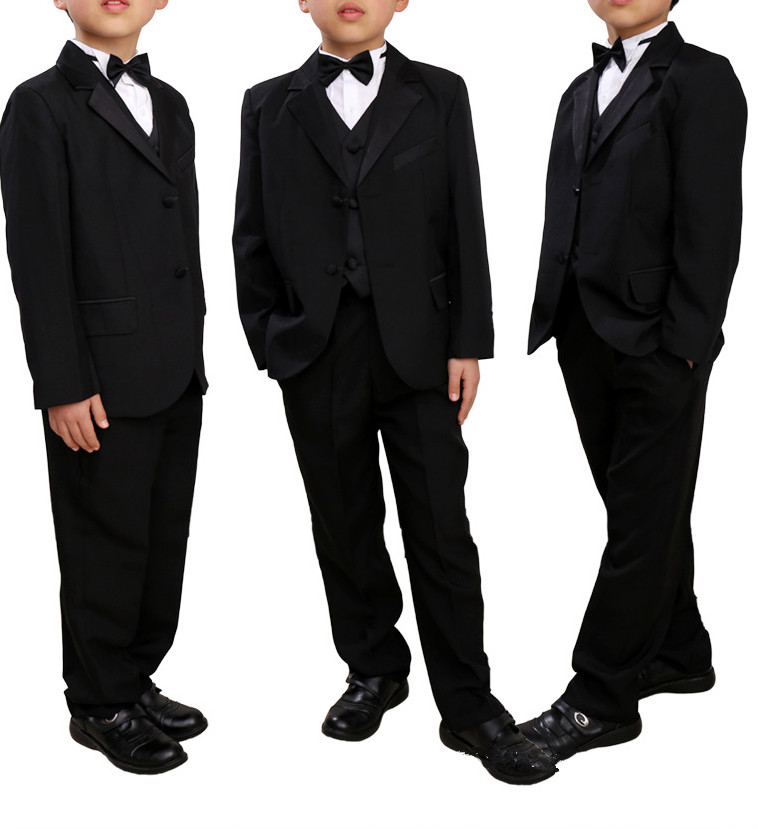 5 Pieces Boys Suits For Weddings Kids Prom Suits Boys Blazer Jacket Formal Wedding Party Boy